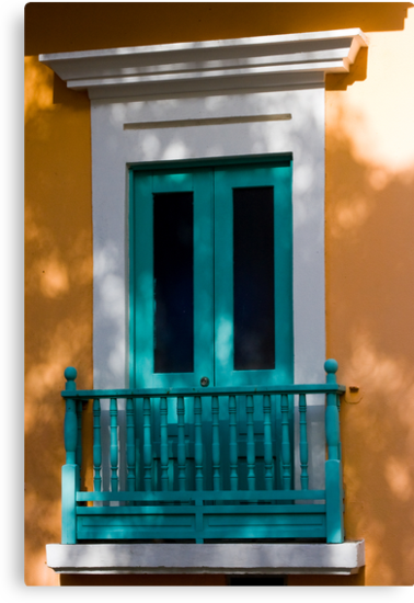 Colorful Doorway in Shadows by David Chappell