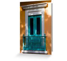 Colorful Doorway in Shadows Greeting Card
