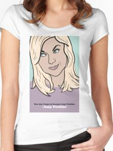 Amy Poehler Women's Fitted Scoop T-Shirt