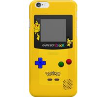 Pokemon Pikachu and Pichu Nintendo Gameboy Color iPhone Case/Skin