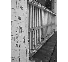 Peeling Fence Photographic Print
