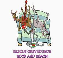Rescue Greyhound's rock and roach! Women's Fitted Scoop T-Shirt