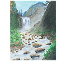 Waterfall - Oil Pastels Photographic Print