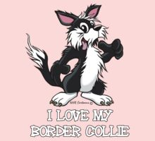 I Love my Border Collie  Kids Clothes