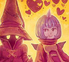 Final Fantasy IX - Eiko and Vivi by Keikilani