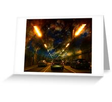 life - an uncertain destination Greeting Card