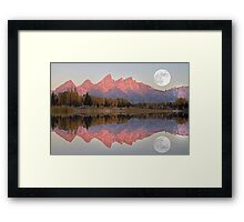 TETON MORNING Framed Print