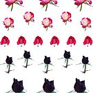 Roses - various colours - stickers by STHogan