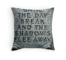 Grave Stone Throw Pillow