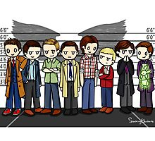 SuperWhoLock Lineup Photographic Print