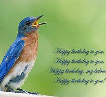 Happy Birthday Bluebird by Bonnie T.  Barry