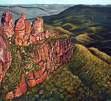 Three Sisters, Australia by Linda Callaghan