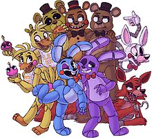 FNAF- The Gang's All Here by ninied