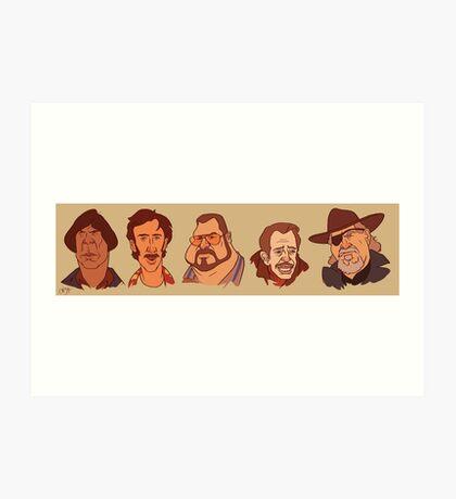 Coen Brothers Characters Art Print