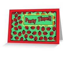 ladybug party invitation Greeting Card
