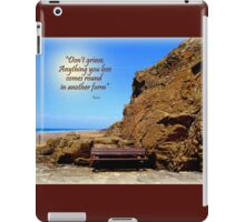 A Seat by the Rock iPad Case/Skin