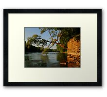 River HDR Framed Print