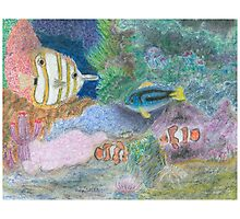 The Corel Reef - Oil Pastels Photographic Print
