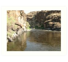 John Day River in Central Oregon Art Print