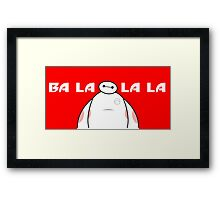 Big Hero 6 Six - Baymax Ba la la la la Red  Framed Print