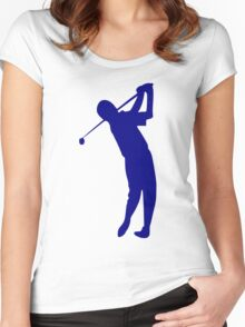 Golfer Women's Fitted Scoop T-Shirt