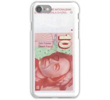 10 Old Swiss Franc Note bill iPhone Case/Skin