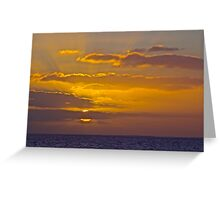 Sinking in the Water Greeting Card