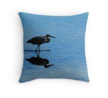 Blue Hunter Throw Pillow