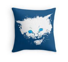 Happy Little Kitten Throw Pillow