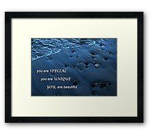 Ocean's Pebbles Framed Print