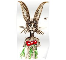 R is for Rabbit Poster