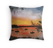 Sunset at Shoal Bay, Australia Throw Pillow