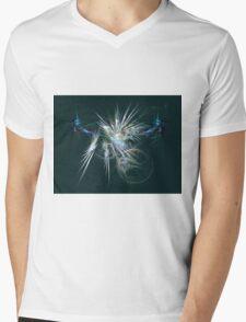 Energised Spikes - Abstract Art Mens V-Neck T-Shirt