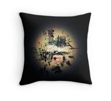 OLD NYC, antique abstract ART Throw Pillow