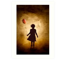 A girl and her balloon Art Print