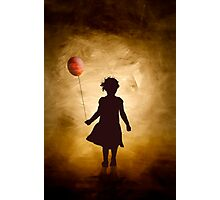 A girl and her balloon Photographic Print