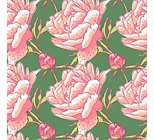 Seamless floral background with peonies Photographic Print