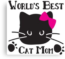World's best cat mom Canvas Print