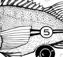 Racing Fish Sticker
