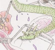 Breakfast Dragon Sticker