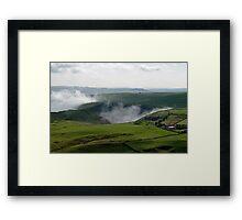 Low Lying Cloud in Winnats Pass Framed Print