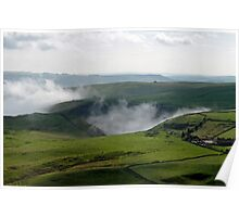 Low Lying Cloud in Winnats Pass Poster