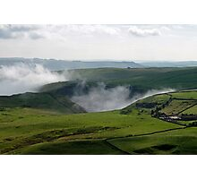 Low Lying Cloud in Winnats Pass Photographic Print