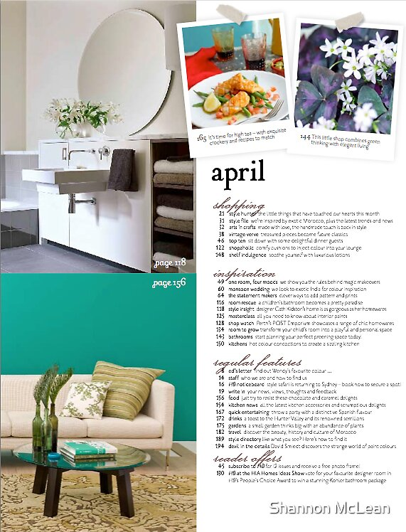Home Beautiful Magazine by Shannon McLean