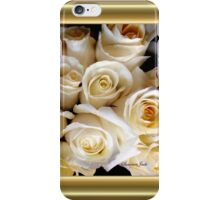 Candle Light Bouquet ~ White Roses iPhone Case/Skin