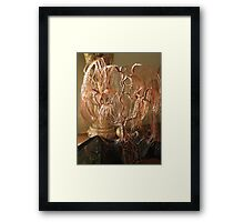 Weeping Willow on Obsidian Framed Print
