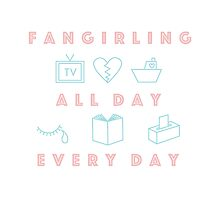 fangirling by bleuish