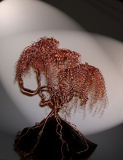 Copper Tree on Obsidian by coppertrees