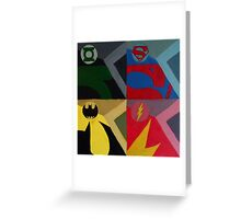 men of the justice league Greeting Card
