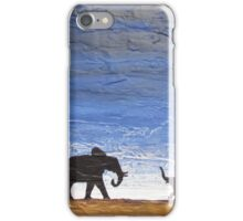 "elephant cute art ""welcome home"" good luck painting original handmade  iPhone Case/Skin"